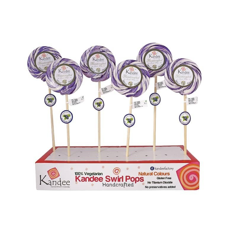 Blueberry Blast Kandee Swirl Pop Natural Color - Pack of 6