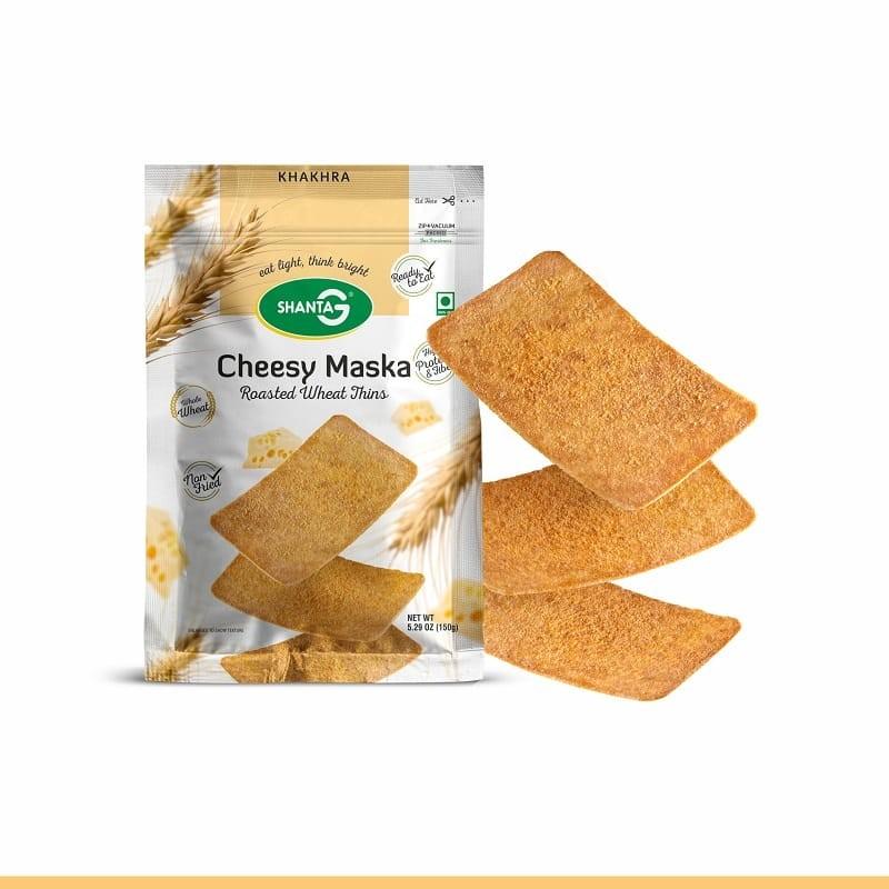 Cheesy Maska Wheat Thins Khakhra