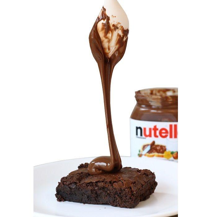 Eggless Nutella Brownie