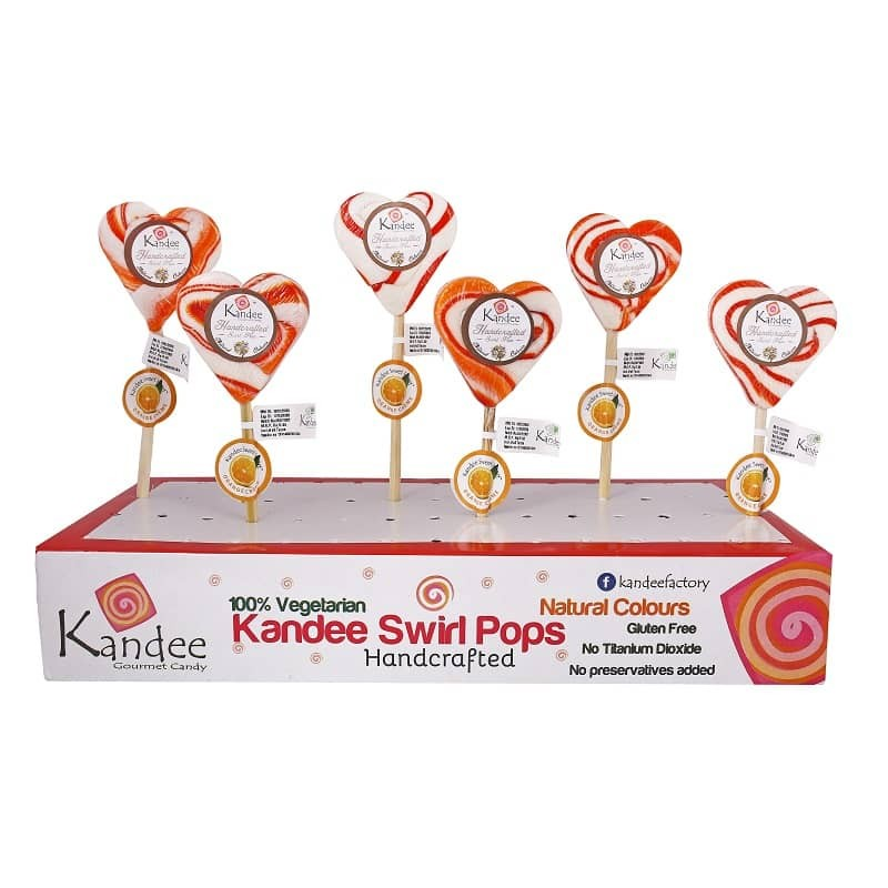 Orange Creme Kandee Sweet Heart Natural Color - Pack of 6